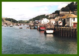 Looe Harbour quay - photo:RJT 8/99